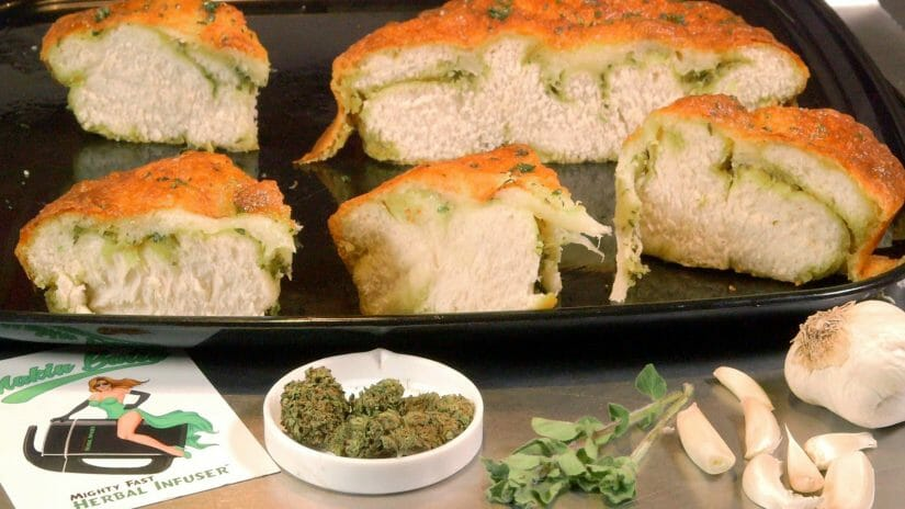 Cannabis Infused Garlic Herb Cheese Bread Recipe